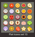 flat icon-set 15 vector image vector image