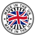 Stamp with flag of the UK Made in the UK vector image vector image