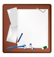 Pencil Lying and Socket Wrench on A Blank Page vector image vector image
