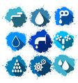 Water Symbols - Icons Splash Set vector image