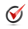 Red check mark vector image