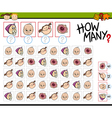 counting task for kids vector image vector image