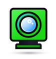 desktop web camera linear icon vector image