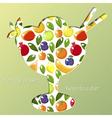 healthy dessert vector image