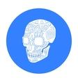 Mexican calavera skull icon in black style vector image