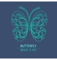 Outline logo butterfly vector image