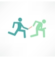 relay runners vector image