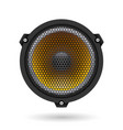 realistic speaker on white for design vector image vector image