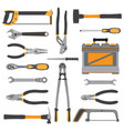 construction repair tools flat icon set bench vector image