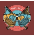 Colored of paintball emblem vector image vector image