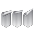 Silver stickers set vector image
