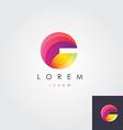 Letter G colorful design element vector image