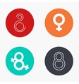modern 8 march colorful icons set vector image vector image