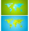 Bright abstract tech polygonal world map design vector image vector image