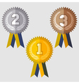 Set of signs medal vector image
