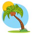 Cartoon Palm Tree With Background vector image