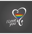 logo heart and rainbow vector image