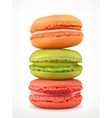 Macarons icons vector image