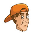 man with hat vector image