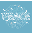 Peace lettering with birds vector image