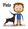 pet dog design vector image