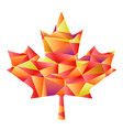 polygon autumn maple leaf vector image
