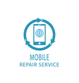 Repair phone logo fix service mobile and tablet vector image