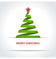 Christmas tree from paper ribbon background vector image vector image