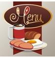 menu breakfast delicious food creative banner vector image