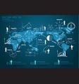 Modern global business economy vector image vector image