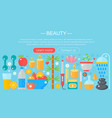 concept beauty and shopping icons beauty vector image vector image