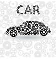 car from gears vector image vector image
