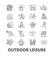 outdoor leisure vacaton activity hobby vector image