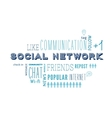Text cloud of social media and networking related vector image