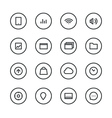 Different interface icons isolated on white vector image vector image