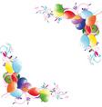 floral balloon vector image vector image