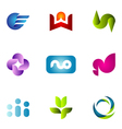 logo design elements set 57 vector image