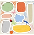 cute paper frames vector image