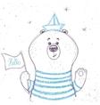 bear sailor vector image