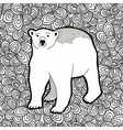 Black and white with polar bear for vector image