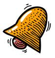 cartoon image of notification icon bell symbol vector image