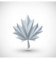 Conceptual polygonal maple leaf vector image