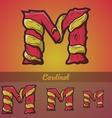 Halloween decorative alphabet - M letter vector image