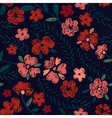 Hand Drawn Seamless Flower Pattern vector image