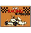 kart racing poster vector image