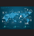 Modern global business economy vector image