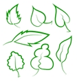 Set of Leaf Icons vector image