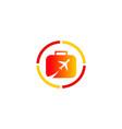 travel plane bag company logo vector image