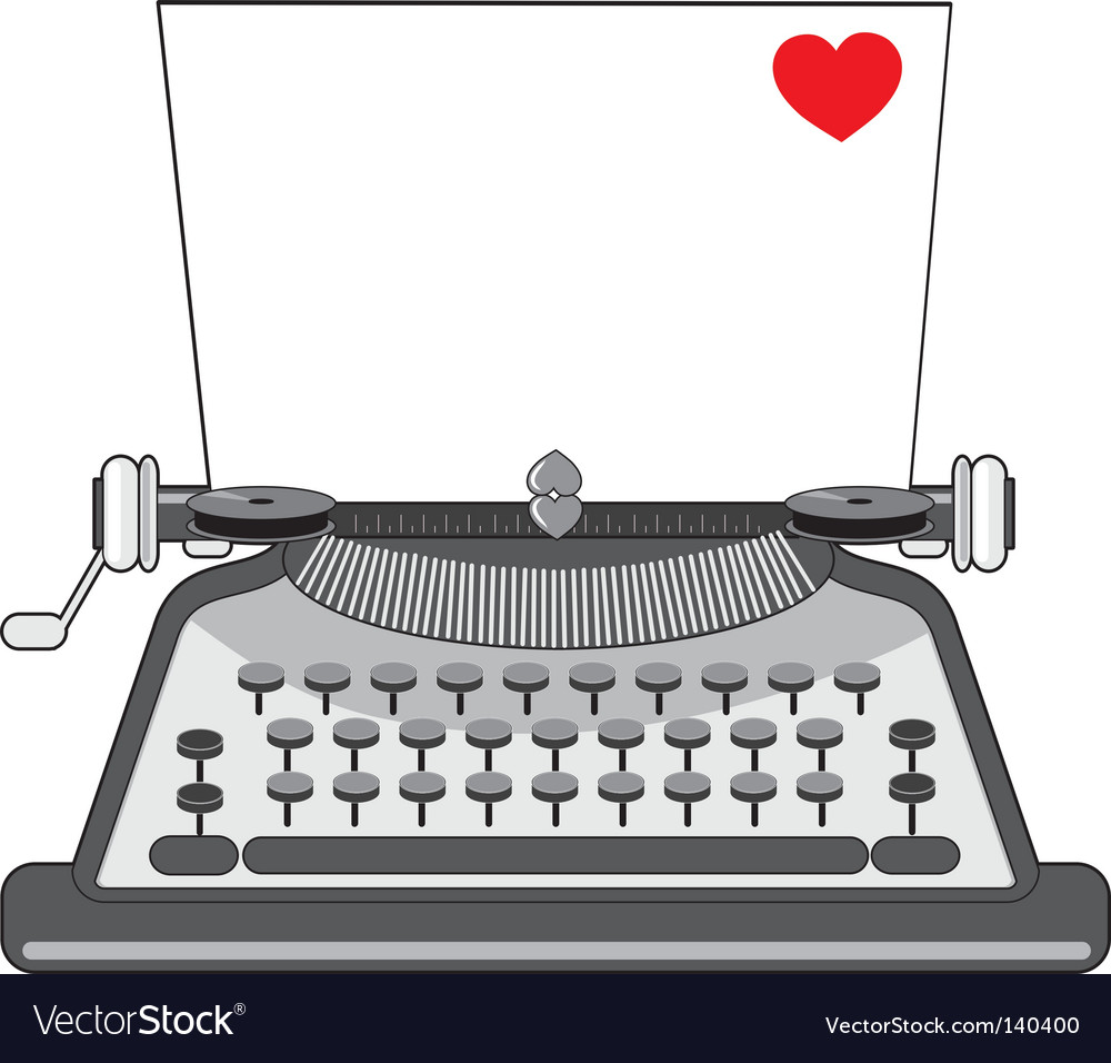 Vintage typewriter vector