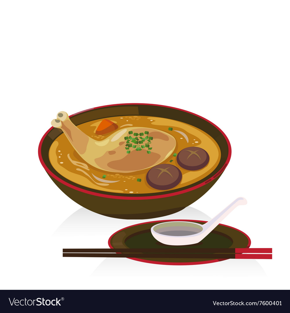 Chiken soup vector